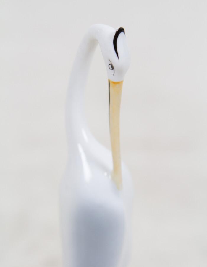 Hand Painted Stork by Hollóházi -3