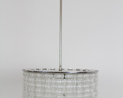Large Beautiful Glass Chandelier by Doria, 1960's
