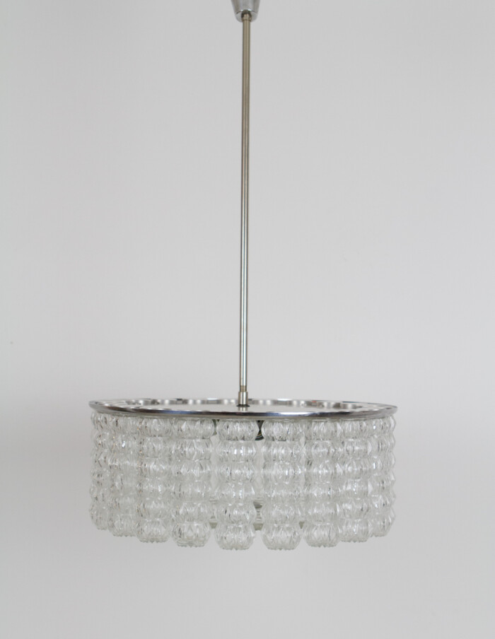 Large Beautiful Glass Chandelier by Doria, 1960's -1