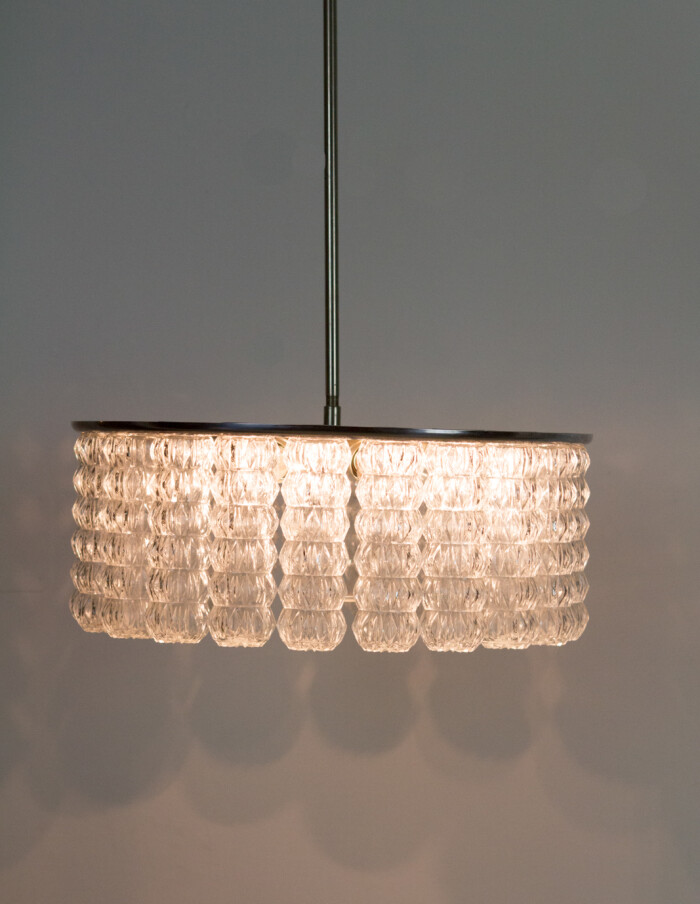 Large Beautiful Glass Chandelier by Doria, 1960's -16