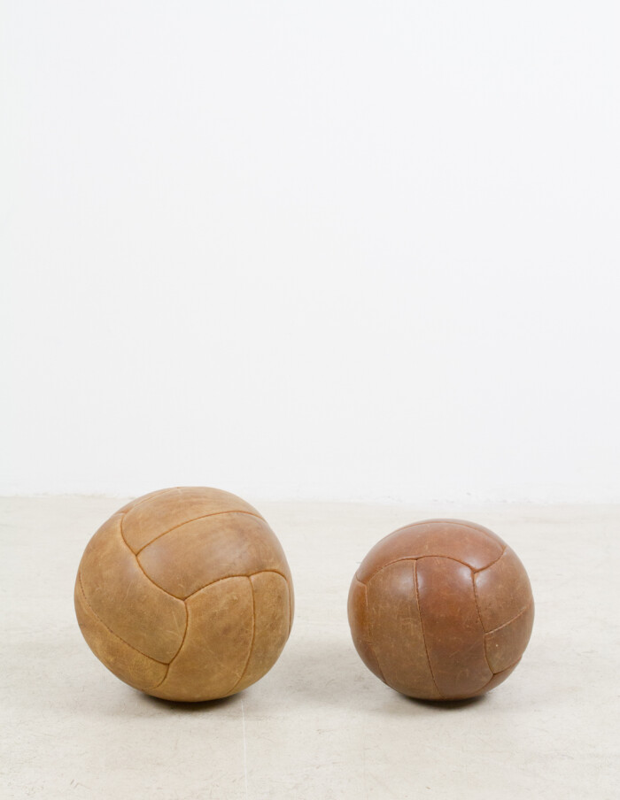 Large Vintage Leather Ball -1