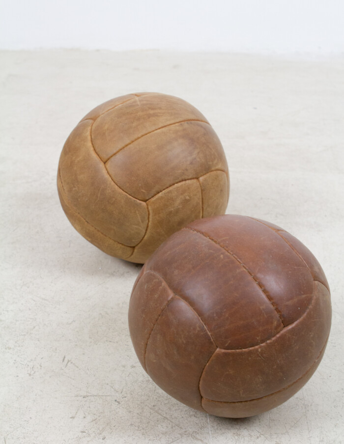 Large Vintage Leather Ball -3