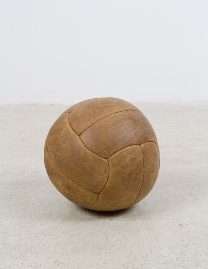 Large Vintage Leather Ball -4
