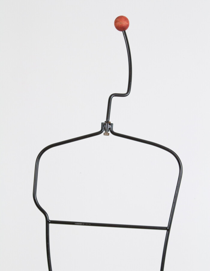 Male Shape Free-standing Metal Coathanger, 1970's-1