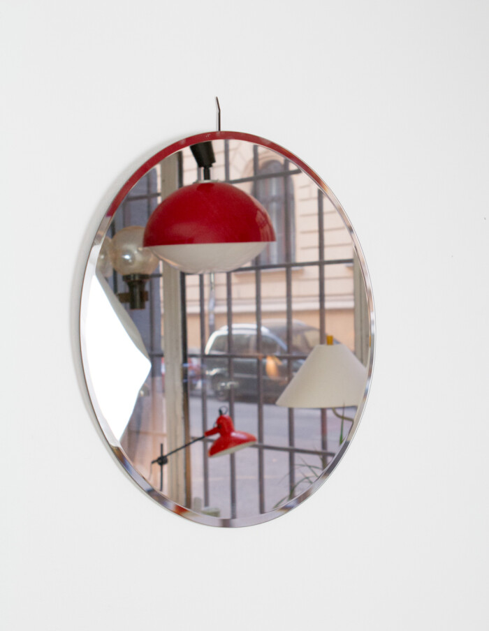 Mid-Century Round Mirror -2