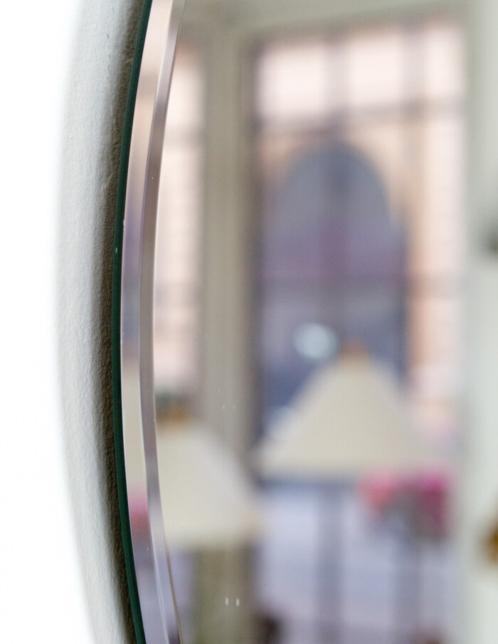 Mid-Century Round Mirror -5