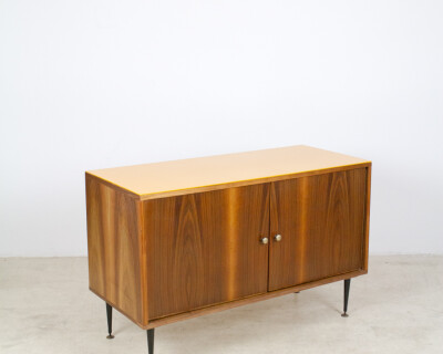 Restored Tatra Sideboard with Yellow Glass Top, 1960's