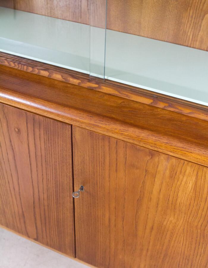 Restored Wooden Bookcase by Bohumil Landsman for Jitona, 1960's -5