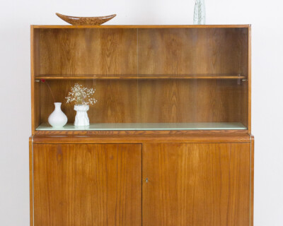 Restored Wooden Bookcase by Bohumil Landsman for Jitona, 1960's