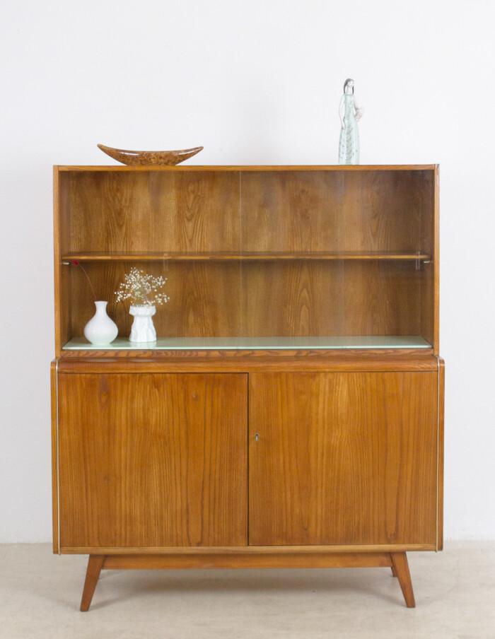 Restored Wooden Bookcase by Bohumil Landsman for Jitona, 1960's -9