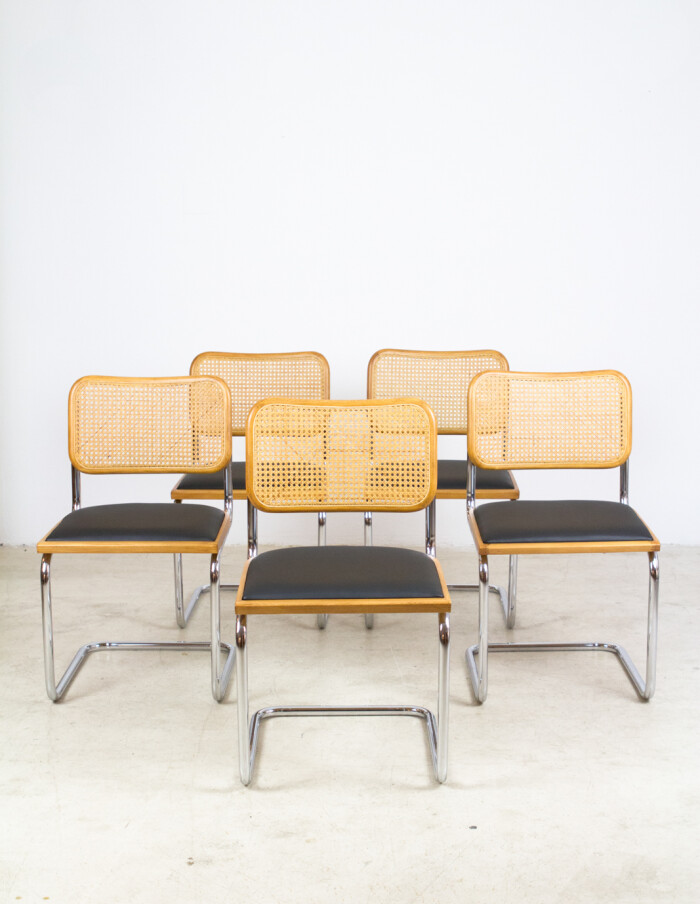 Set of 5 Restored Italian Cesca Chairs-1