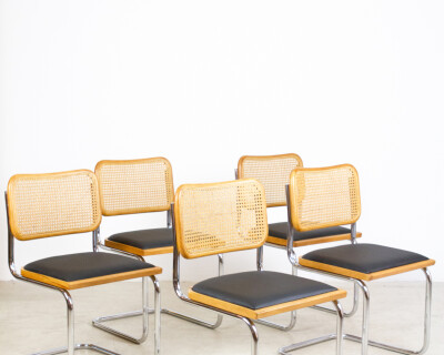 """Restored Italian """"Cesca"""" Chairs (4 pieces available)"""