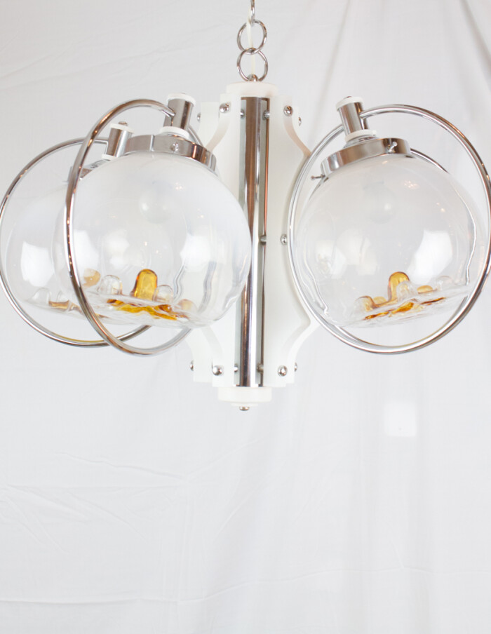 Beautiful Murano Glass Chandelier by Mazzega, 1970s -8