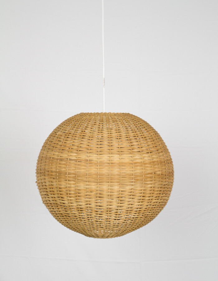 Globe Straw Pendant from the 70s -1