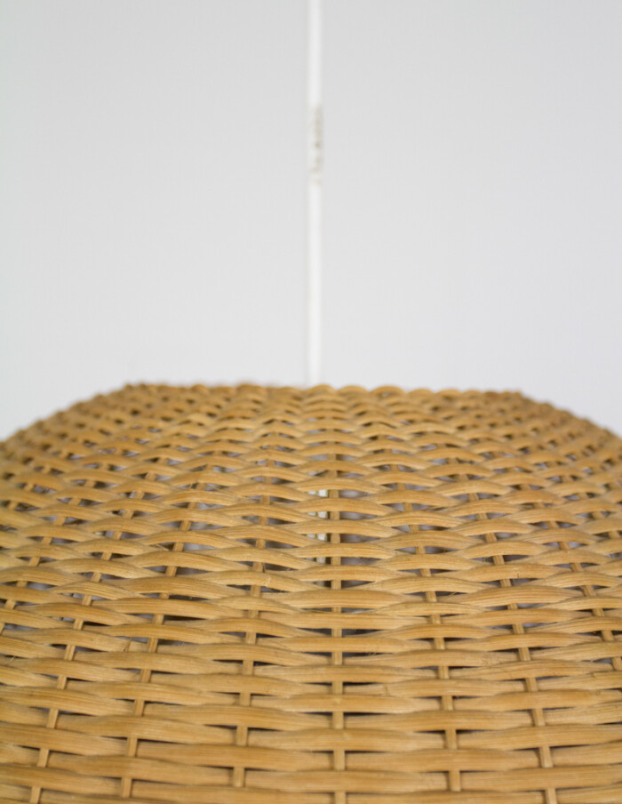 Globe Straw Pendant from the 70s -2