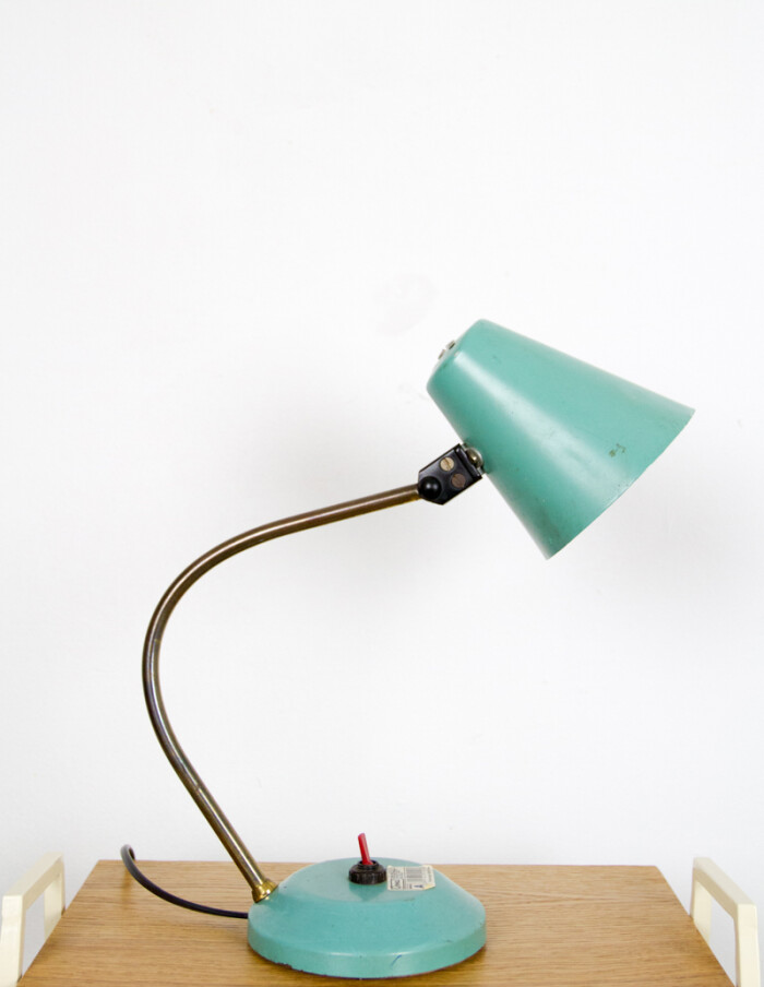 Lovely Turquoise Table Lamp, 1970s-5