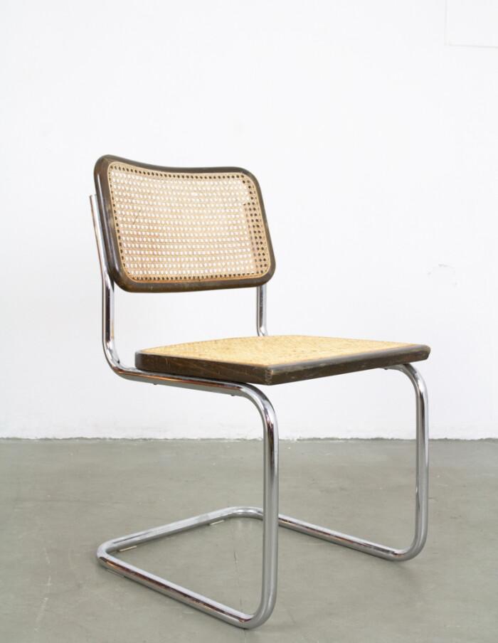 Mid-Century Italian Walnut & Chrome Chair-5