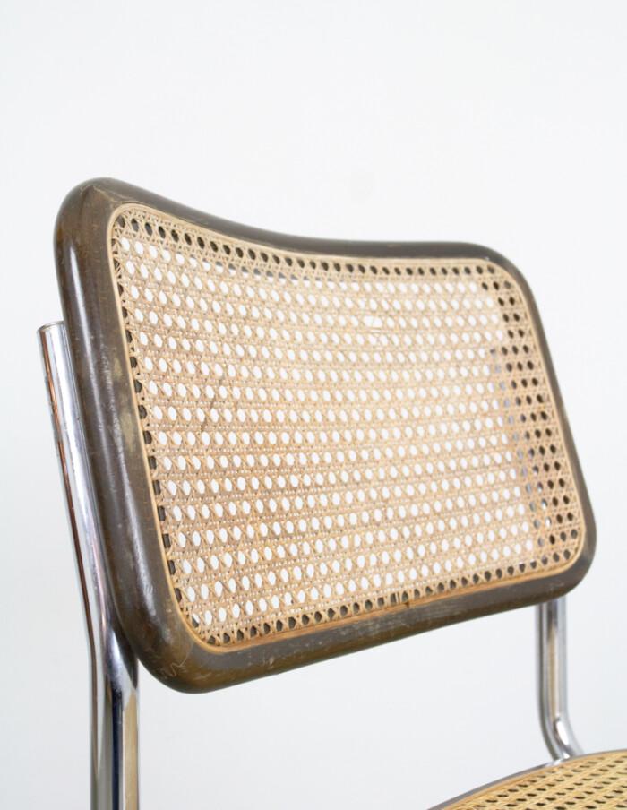 Mid-Century Italian Walnut & Chrome Chair-6