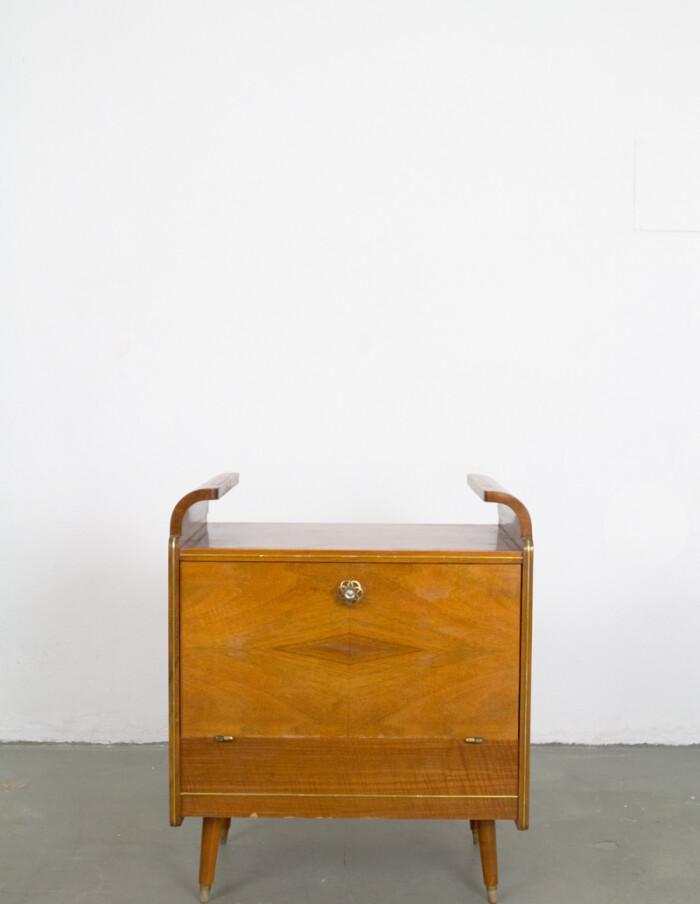 Restored Art Deco Wilhelm Krechlok Drinks Cabinet, 1950s-1