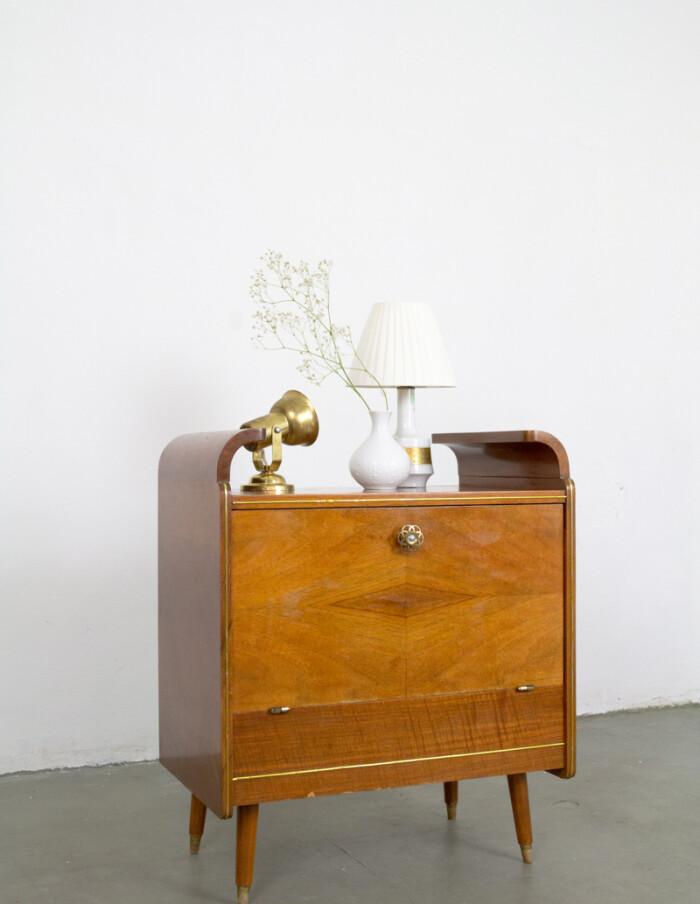 Restored Art Deco Wilhelm Krechlok Drinks Cabinet, 1950s-14