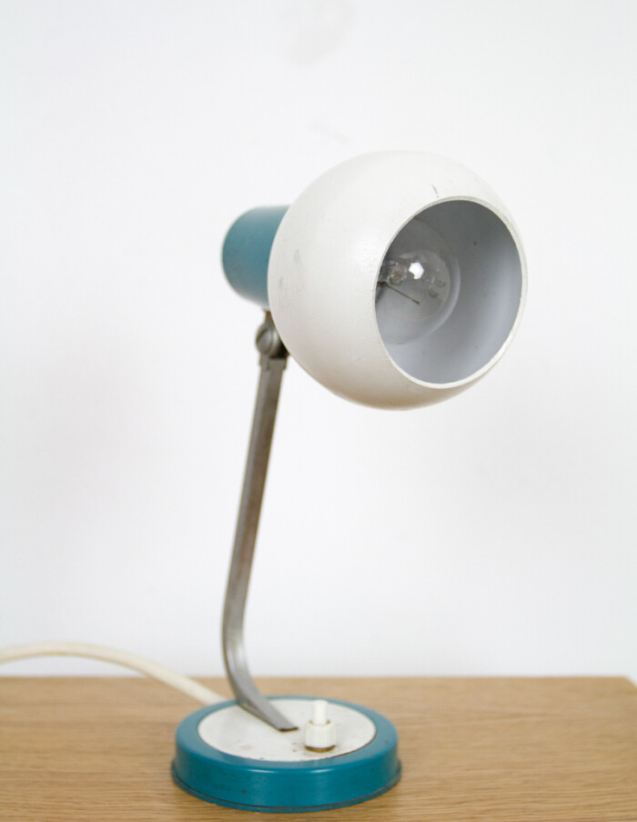 Small Blue & White Table Lamp-2