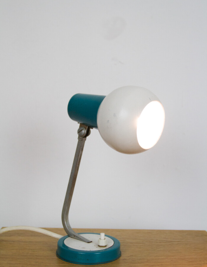 Small Blue & White Table Lamp-7