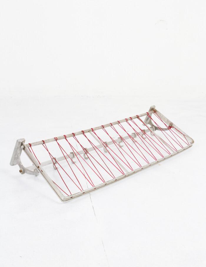 Aluminium Coat Rack with Red String-12