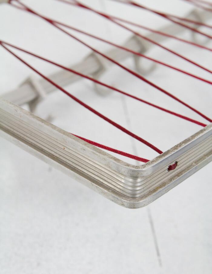 Aluminium Coat Rack with Red String-9