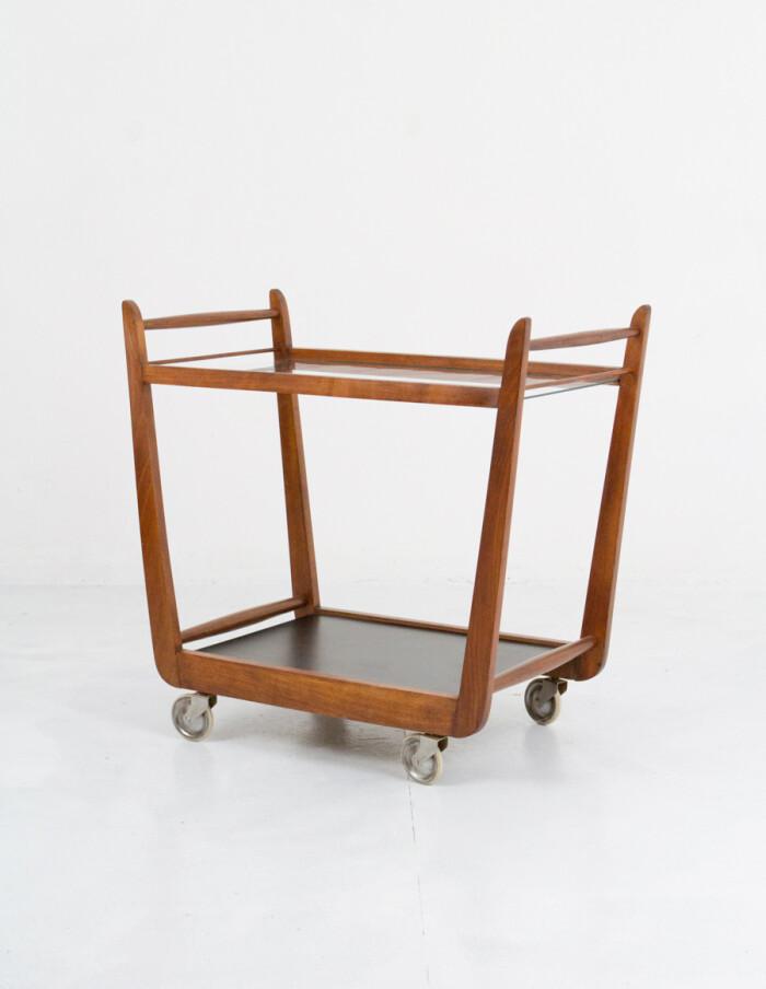 Art Deco Rolling Trolley, Restored-9