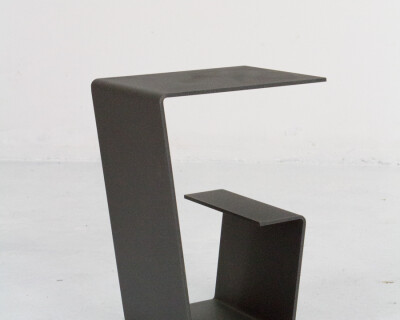 Cool Black Steel Small Side Table / Plant Holder