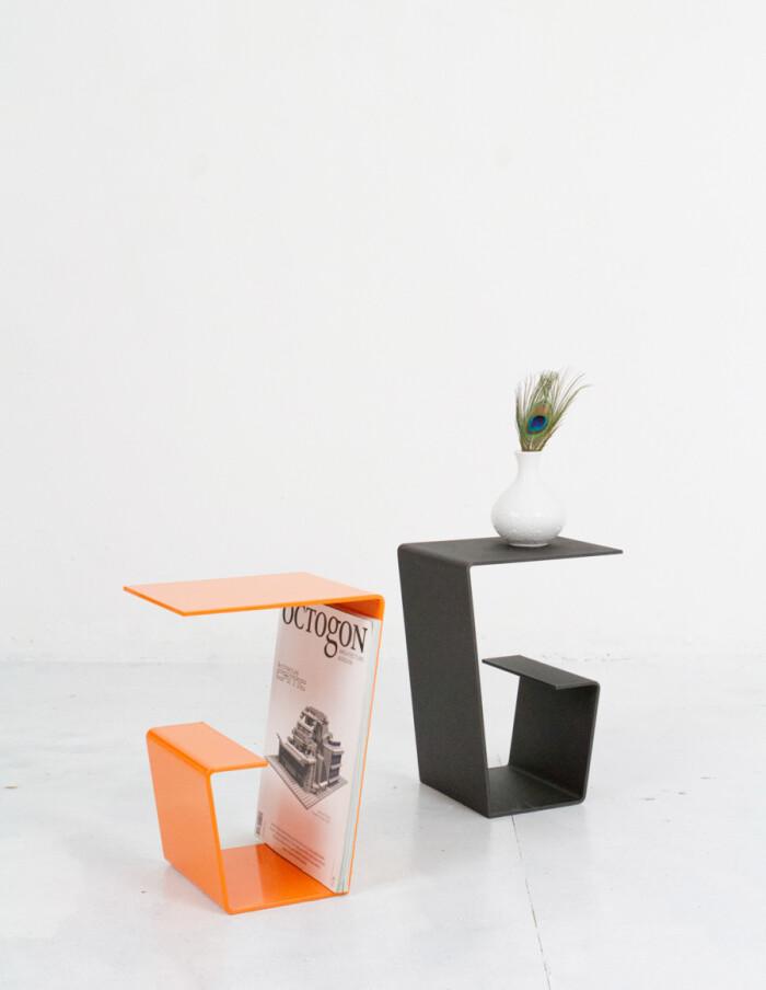 Cool Black Steel Side Table - Plant Holder-5