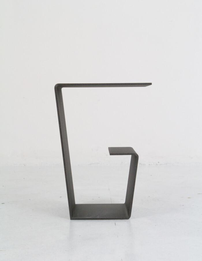 Cool Black Steel Side Table - Plant Holder-8