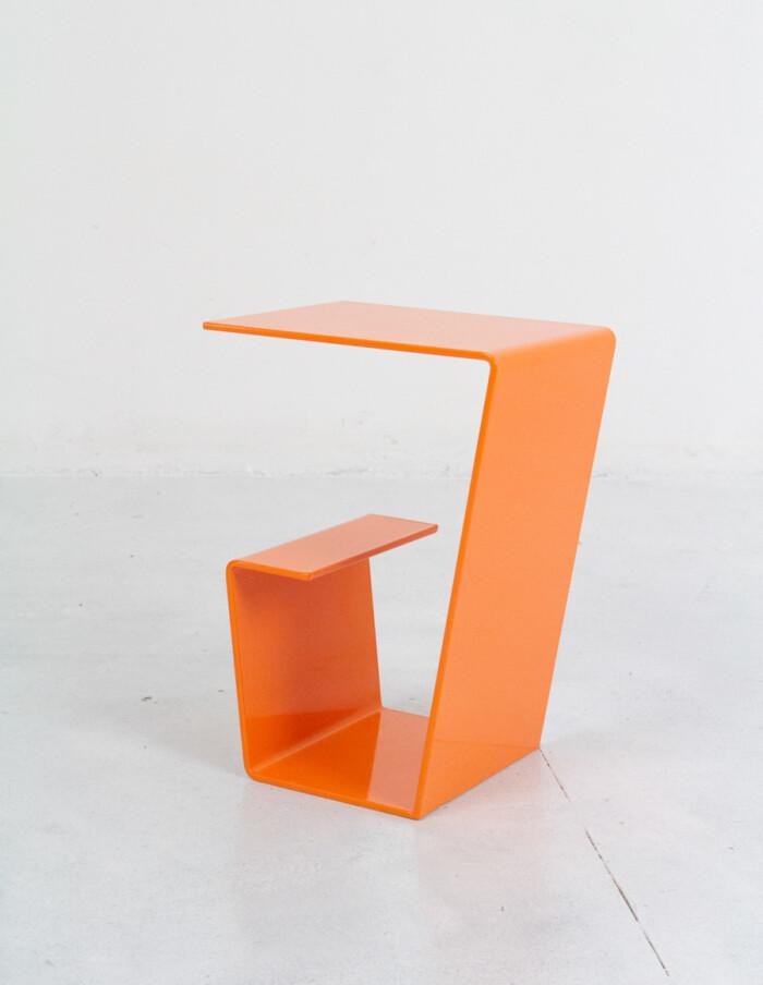 Cool Orange Steel Side Table - Plant Holder -13