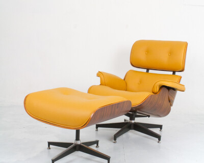 Lounge Chair and Ottoman Designed by Charles & Ray Eames