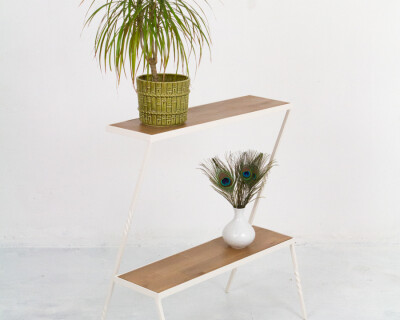 Beautiful Restored Plant Holder with 2 Shelves