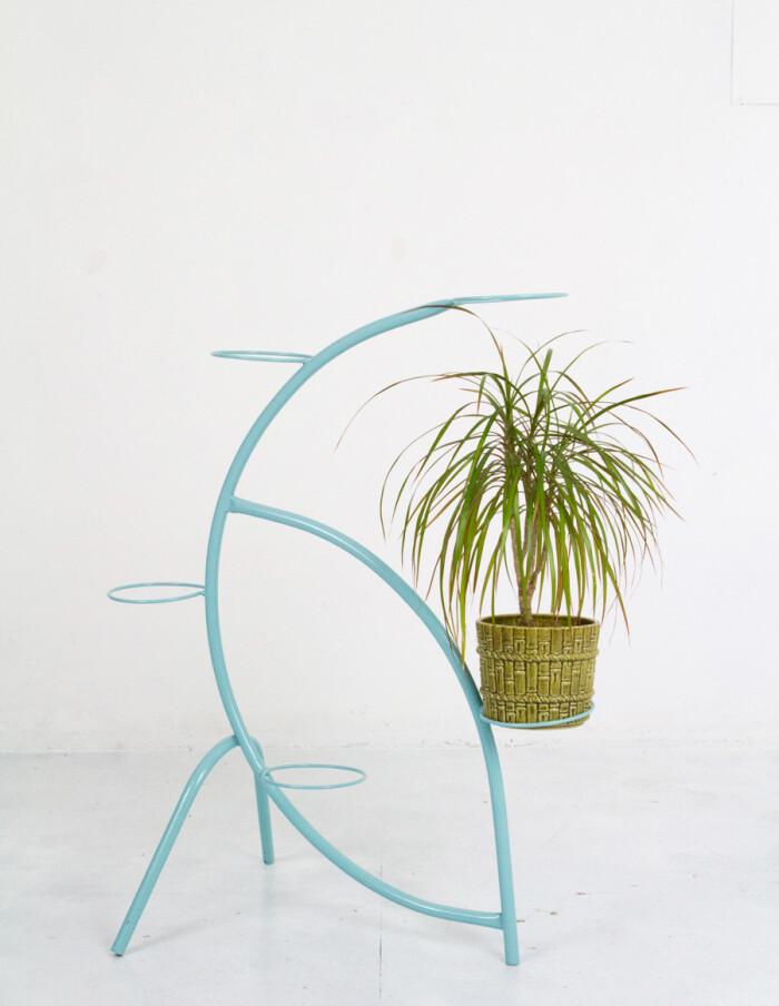 Large Leaf Shaped Turquoise Plant Holder-6
