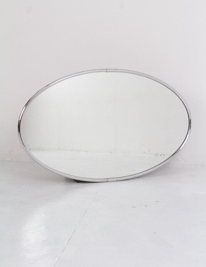 Large Oval Shaped Spiegel Mirror in Chrome Frame-2