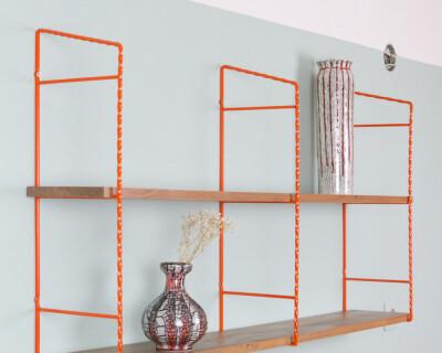 Orange & Walnut Shelves Perfectly Restored (with 2 shelves)