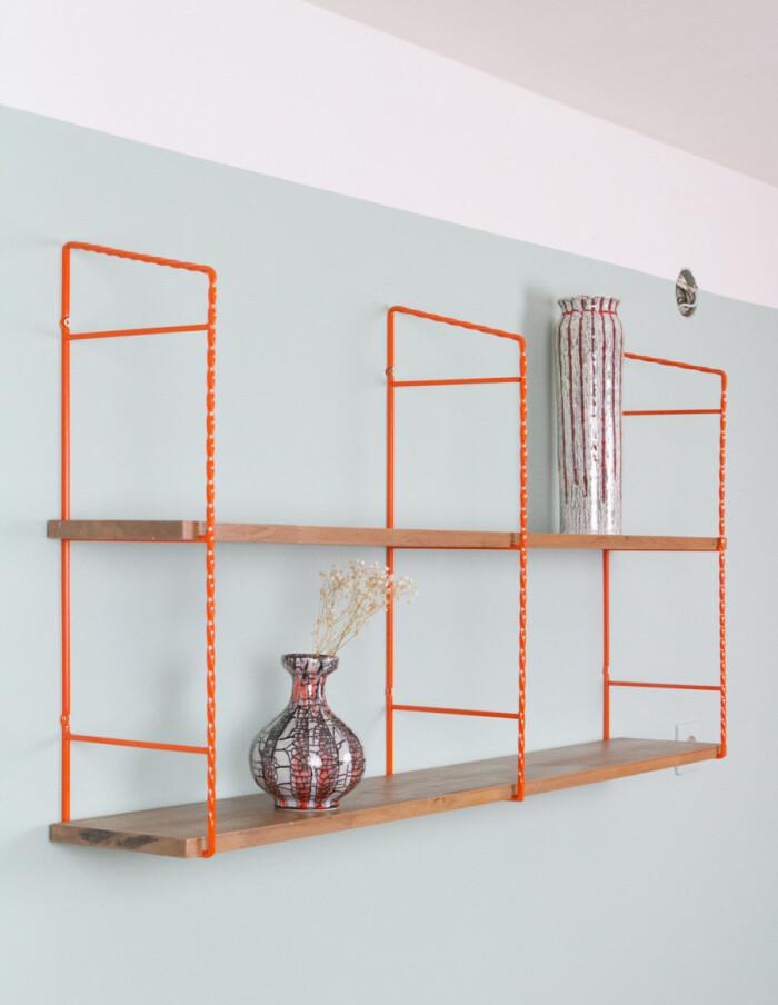 Orange & Walnut Shelves Perfectly Restored-9
