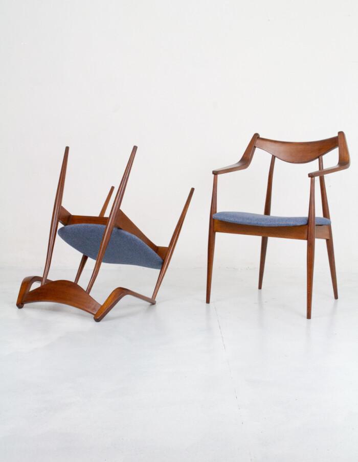 Perfectly Restored Armchair by Heczendorfer László-8