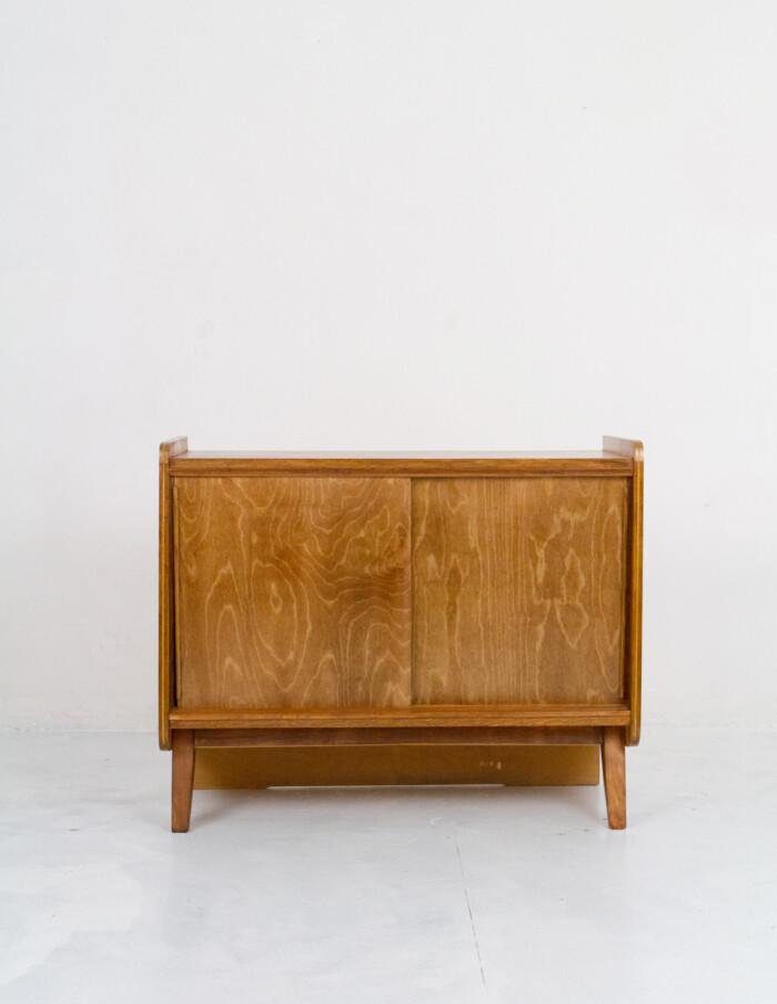 Walnut Tatra Sideboard with Sliding Doors-1