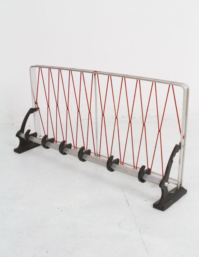 Aluminium Coat Rack with Red String-1