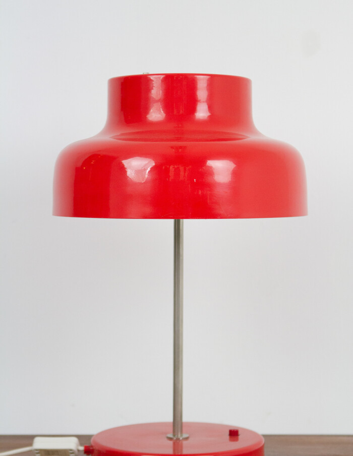Giant Red Metal Table Lamp-1
