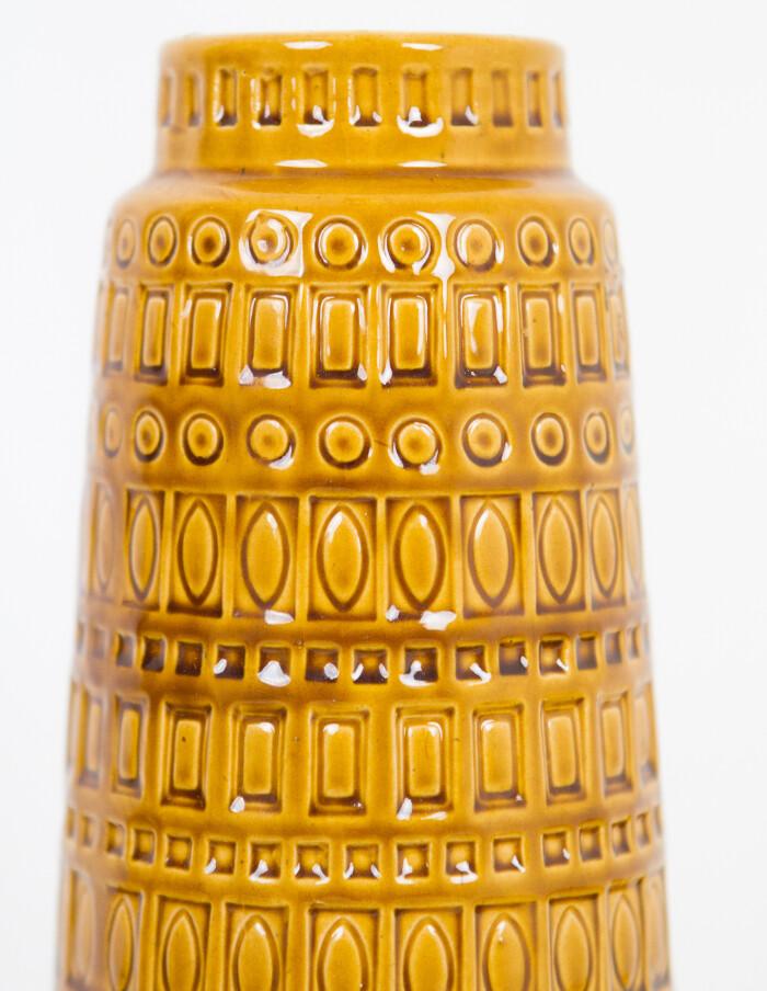 Large Mustard Yellow German Ceramic Vase by Scheurich-4