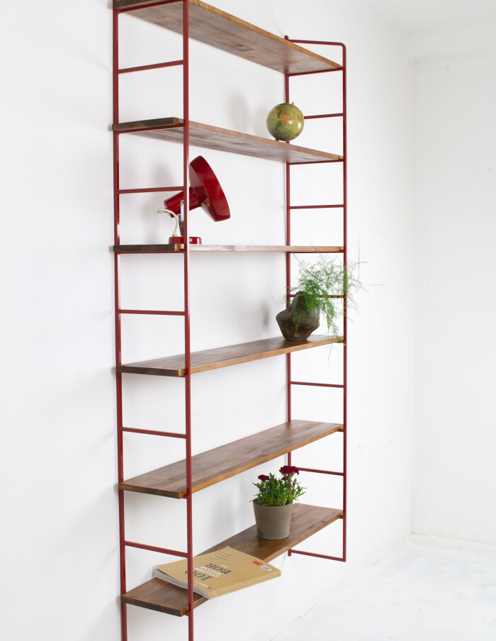 Large Size Dark Cherry and Walnut Shelves Perfectly Restored-6