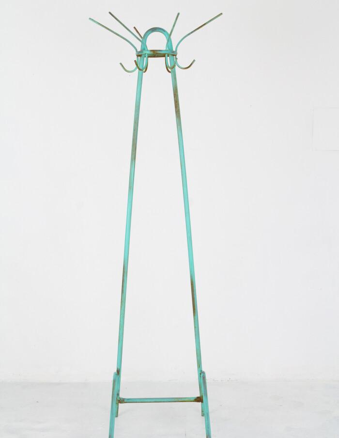 Large Turquoise Standing Coat Rack (Original Condition)-1