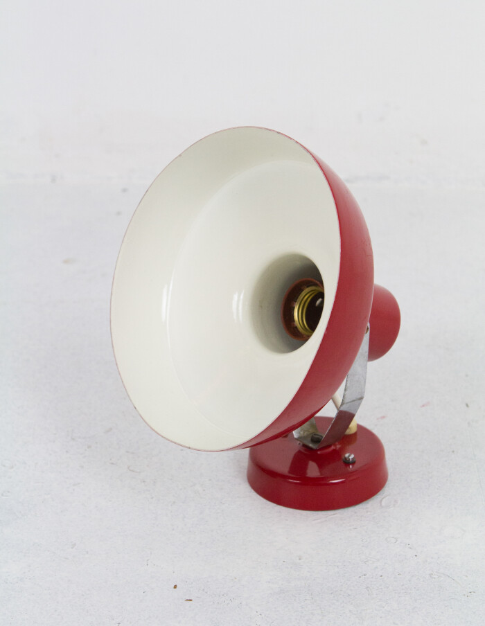 Red Adjustable Wall Lamp, 1970-3