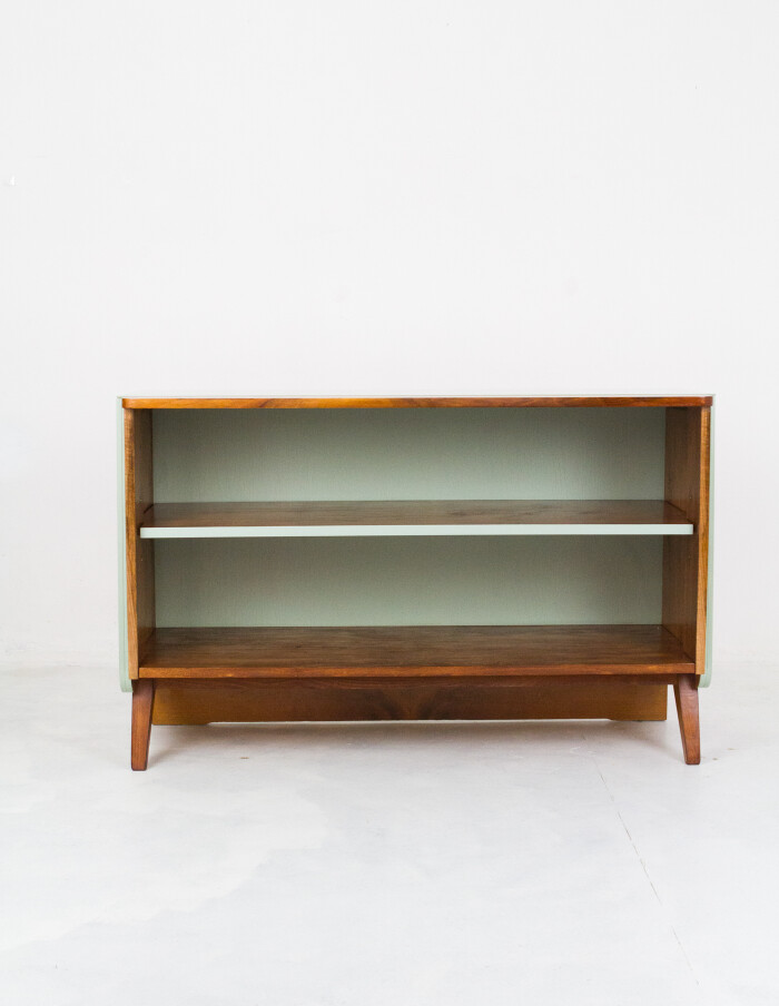 Restored Tatra Sideboard with Green Glass Top-1
