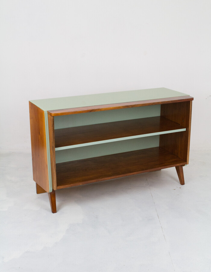 Restored Tatra Sideboard with Green Glass Top-11