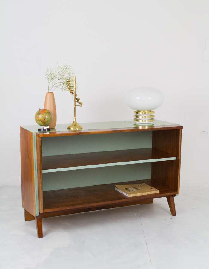 Restored Tatra Sideboard with Green Glass Top-12